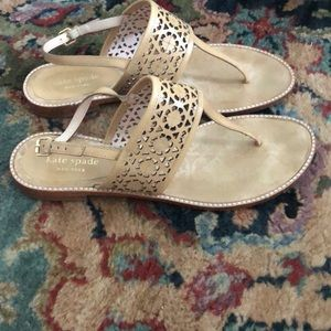 Kate Spade Leather T Strap Sandals Sz 9